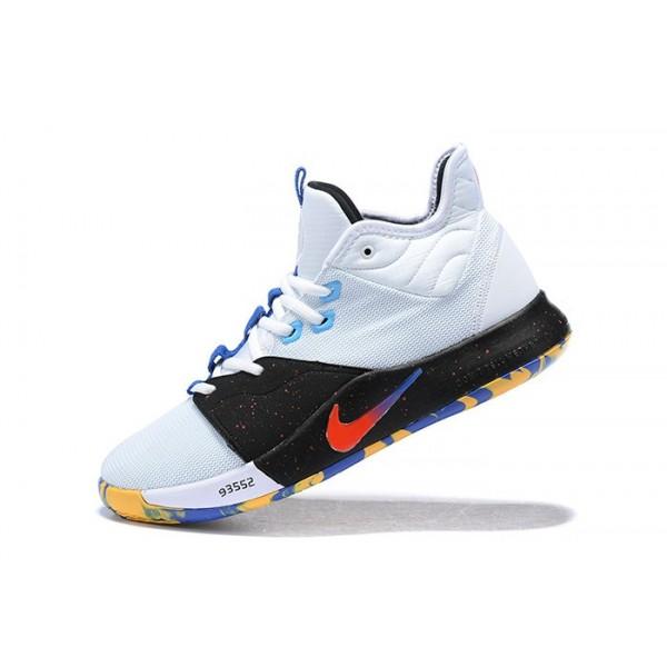 Men Nike PG 3 White-Black-Multi-Color