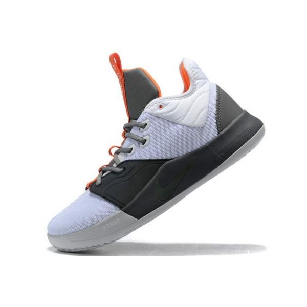 Men Nike PG 3 White-Black-University Red